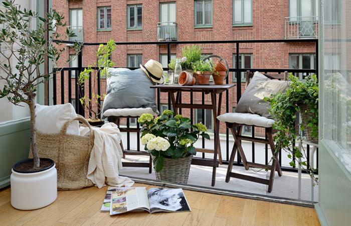 6 idéer för den lilla balkongen